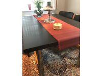 Black Oak Veneer extending Dining table