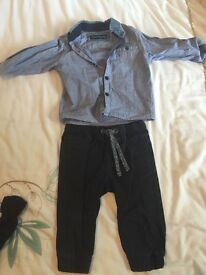 Smart Baby Boy's Outfit - Shirt, Jumper and Trousers (6-9 months)