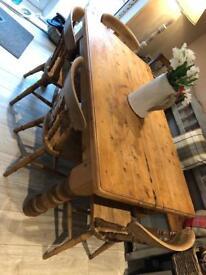 Pine chucky legged table- 5ft Long
