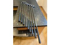 Ben Sayers left handed set of golf irons and Callaway stand bag