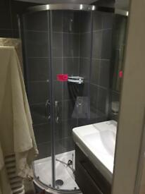 German 800mm Quadrant Shower Cubicle From 'Huppe