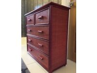 5 Drawer Rose Coloured Chest of Drawers