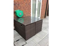 Brown Rattan Cube Patio Set For Sale - Seats up to 8
