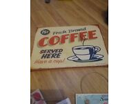 Coffee plaque, ideal for home or catering buisness