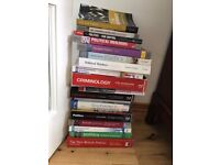 TEXT BOOKS FOR POLITICS AND CRIMINOLOGY STUDENTS