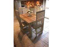 Shabby chic table with 4 chairs
