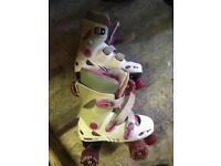 Quad inline girls roller skates (size 2)