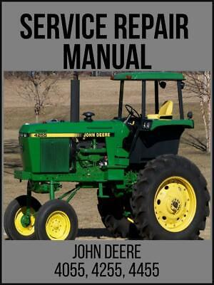 John Deere 4055 4255 4455 Tractor Service Repair Technical Manual Tm1458 Usb
