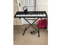 Casio lk-160 keyboard and stand