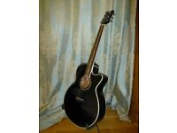 Superb condition, solid spruce top Dean Performer Tribal Electro-acoustic guitar with built in tuner