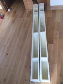 2 ermine cream larder height wine cabinets