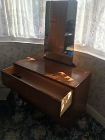 Vintage Dressing table, drawers and mirror