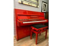 Red Steinbach upright piano| Belfast Pianos||| | Free delivery |||