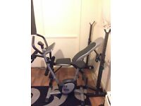 Fitness Power Station Sit,Pull,Press, Bench Ab Home Gym and exercise bike