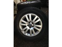VOLVO XC90 4 TYRES 235/65R17 with ALLOY WHEELS