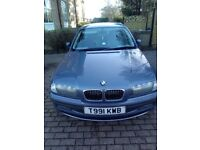 For sale 2000 BWM 323i, 4 door saloon, with 2006 1 series alloys, 9month MOT