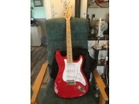 Electric solid guitar