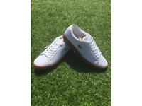 Men's white Lacoste summer trainers pumps size 10