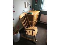Beautiful wooden rocking chair/nursing chair- John Lewis- BARGAIN