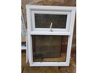Double glazed frosted glass window.