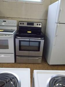Frigidaire Stainless stove with self clean. Fully serviced. 90 day warranty.
