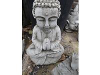 Concrete stone Buddha garden ornament