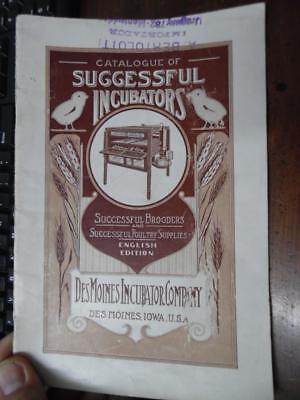 C.1920s Des Moines Incubator Company Poultry Equipment Catalog 34 Iowa Vintage