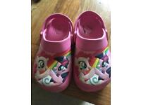 Size 9 my little pony croc type shoes