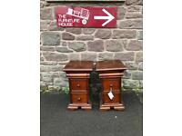 Gillies of Broughty Ferry solid mahogany bedside chests * free furniture delivery *