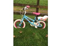 Girl's Bicycle - ideal first bike for age 4-6yr.