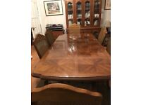 Extending Dining table, Chairs & Storage unit