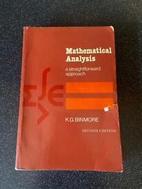 Book: Mathematical Analysis