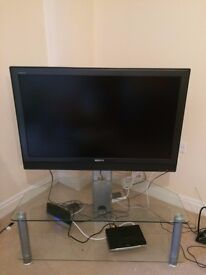 42in TV with glass stand