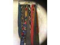 20 assorted silk ties