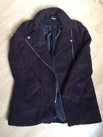Wool-blend bouclé winter coat