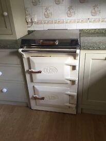 Everhot 60 electric range cooker cream colour
