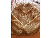 Wallis fake fur cream jacket size 12