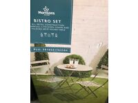 Bistro table & 2 chairs set New