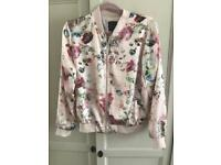 Gorgeous New Look Floral Bomber Jacket, Size 12.