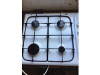 Hotpoint White Enamel 4 Ring Gas Hob CH46 FREE
