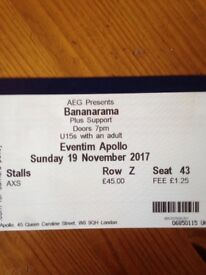 Bananarama tickets Sun 19th Nov x2