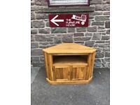 Solid oak corner TV Cabinet * free furniture delivery *