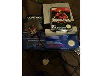Nes console with 2 games