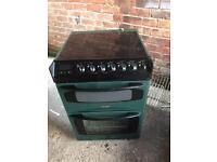 Triky bendix ceramic halogen electric cooker double ovens 60cm