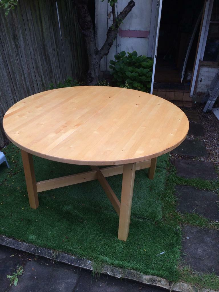 Ikea norden round dining table in haringey london gumtree ikea norden round dining table watchthetrailerfo