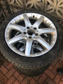 Mercedes wheels and winter tyres