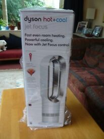 Dyson AM09 Hot + Cool Fan Heater - White/Nickel [Energy Class A] by Dyson Brand New
