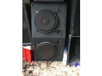 "Double 12"" mid range loudspeaker cabinet"