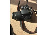 Canon 750D with tripod can on battery and two third party