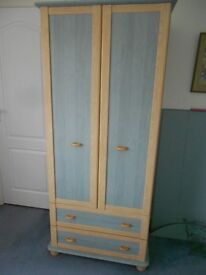 CHILDRENS BEDROOM FURNITURE * WARDROBE WITH DRAWERS * SET OF DRAWERS *MATCHING HEADBOARDS x2 *
